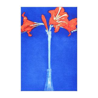 ピエト・モンドリアン-アマリリスのファインアートの花の絵画 キャンバスプリント