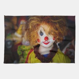 ピエロのおもちゃのスマイル キッチンタオル
