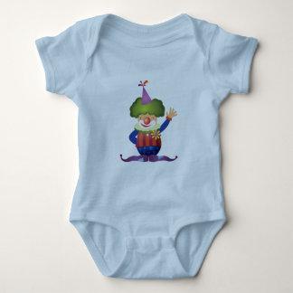 ピエロの乳児のクリーパー ベビーボディスーツ