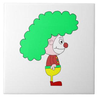 ピエロの漫画。 黄色、赤および緑 タイル