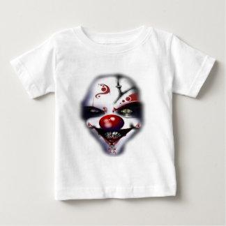 ピエロの顔のワイシャツ ベビーTシャツ