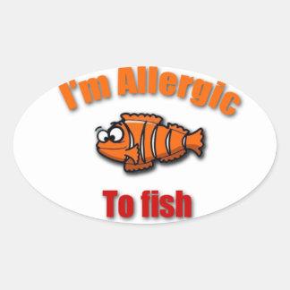ピエロの魚のアレルギー警報ステッカーの*new* 楕円形シール