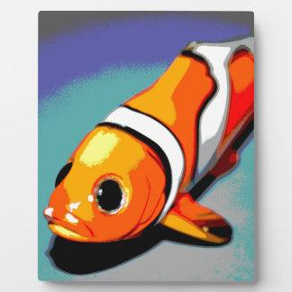 ピエロの魚のデザイン フォトプラーク