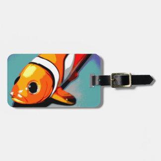 ピエロの魚のデザイン ラゲッジタグ