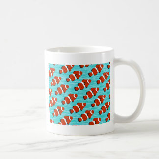 ピエロの魚パターン コーヒーマグカップ