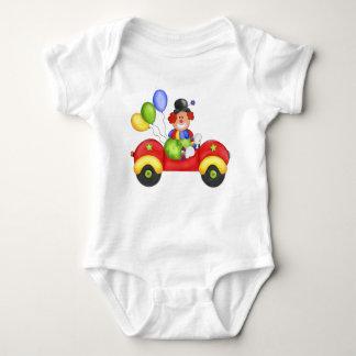 ピエロ車の乳児 ベビーボディスーツ