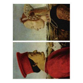 ピエロ・デラ・フランチェスカBattista Sforzaフェデリコda ポストカード