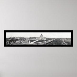 ピエールの州の家、SDの写真1913年 ポスター