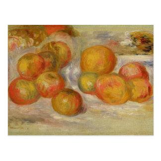 ピエールりんごが付いているルノアール|の静物画 ポストカード