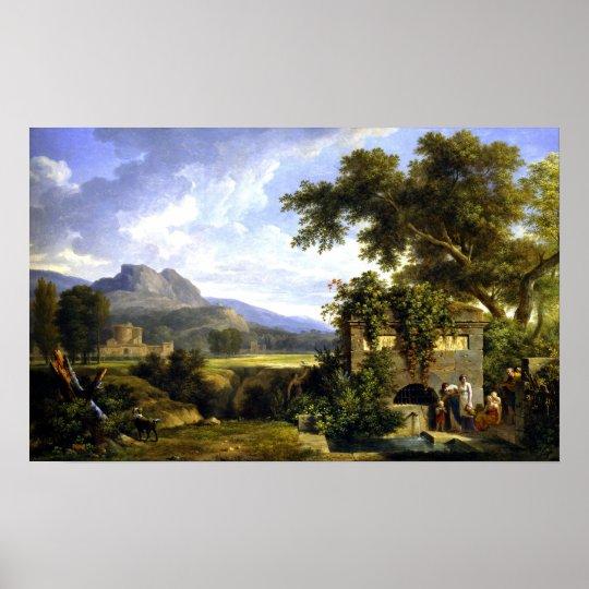 ピエールアンリーdeバランシエンヌのクラシカルな景色 ポスター