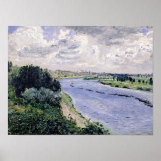 ピエールセーヌ河のルノアール|のはしけ ポスター