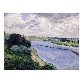 ピエールセーヌ河のルノアール|のはしけ ポストカード