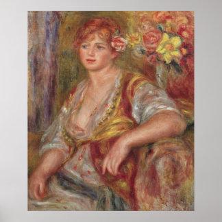 ピエールバラを持つルノアール|のブロンドの女性 ポスター