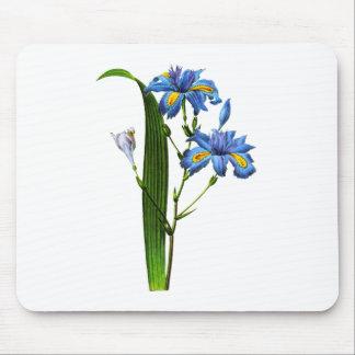 ピエールヨセフRedouté著青いアイリス マウスパッド