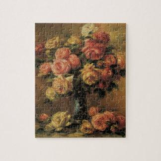ピエールルノアールのヴィンテージのファインアート著つぼのバラ ジグソーパズル