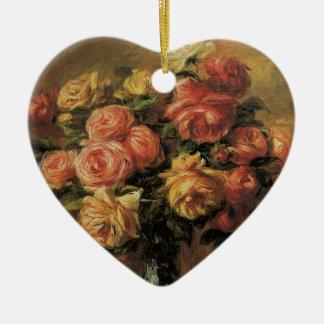 ピエールルノアールのヴィンテージのファインアート著つぼのバラ セラミックオーナメント
