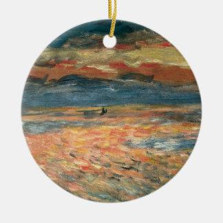 ピエールルノアールのヴィンテージのファインアート著海の日没 セラミックオーナメント