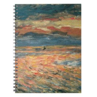 ピエールルノアールのヴィンテージのファインアート著海の日没 ノートブック