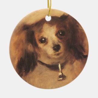 ピエールルノアールのヴィンテージのファインアート著犬の頭部 セラミックオーナメント