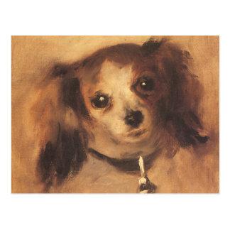 ピエールルノアールのヴィンテージのファインアート著犬の頭部 ポストカード