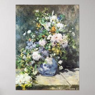ピエールルノアールのヴィンテージの花著春の花束 ポスター