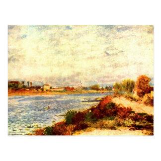 ピエールルノアール著アルジャントゥーユのセーヌ河 ポストカード