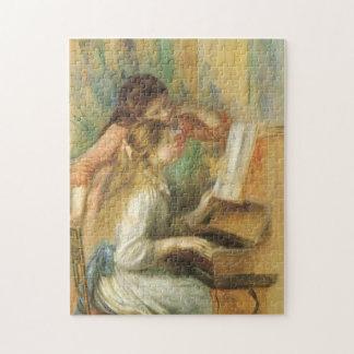 ピエールルノアール著ピアノの若い女の子 ジグソーパズル