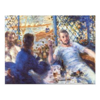 ピエールルノアール著漕ぎ手の昼食 ポストカード