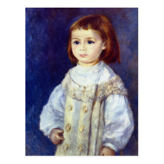 ピエールルノアール著白の子供 ポストカード