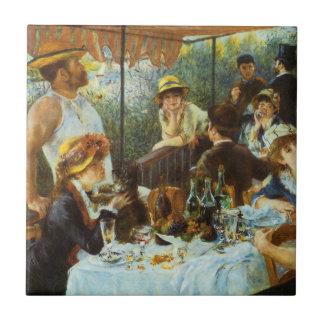 ピエールルノアール著船遊びのパーティーの昼食会 タイル