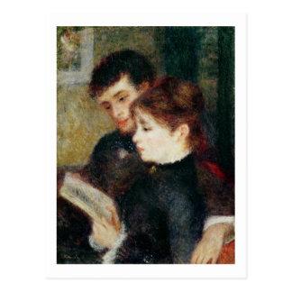 ピエールルノアール|のカップルの読書 ポストカード
