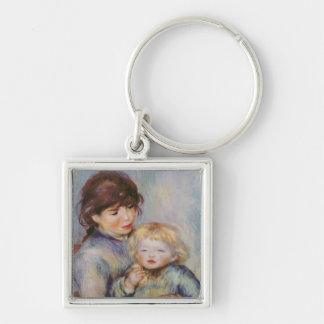 ピエールルノアール|の母性、ビスケットを持つ子供 キーホルダー