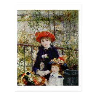 ピエールルノアール|台地の2人の姉妹、または ポストカード