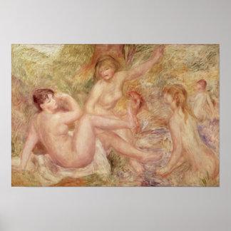 ピエール大きい水浴者のためのルノアール|の勉強 ポスター