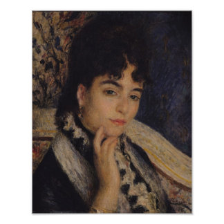 ピエール夫人のアルフォンス・ドーデルノアール|のポートレート ポスター