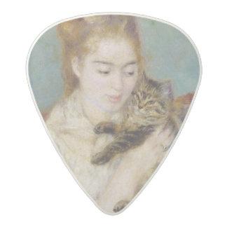 ピエール猫を持つルノアール|の女性 アセタール ギターピック