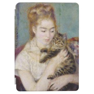 ピエール猫を持つルノアール|の女性 iPad AIR カバー