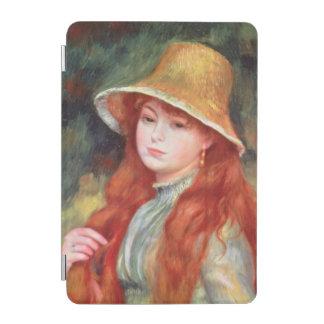 ピエール麦わら帽子のルノアール|の若い女の子 iPad MINIカバー