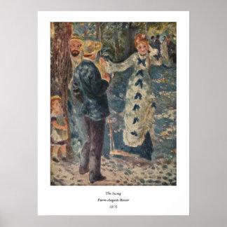 ピエール=オーギュスト・ルノワールの振動(1876年) ポスター