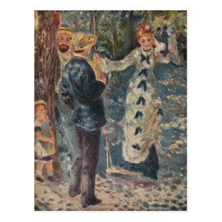 ピエール=オーギュスト・ルノワールの振動(1876年) ポストカード