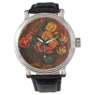 ピエール=オーギュスト・ルノワール著バラ 腕時計