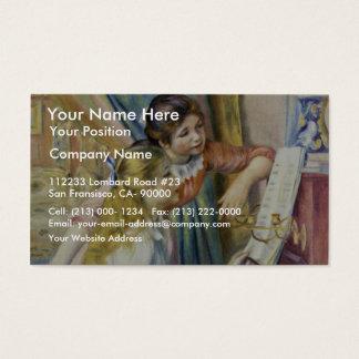 ピエール=オーギュスト・ルノワール著ピアノの2人の女の子、 名刺
