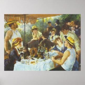 ピエール=オーギュスト・ルノワール著昼食会、 ポスター
