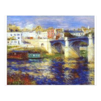 ピエール=オーギュスト・ルノワール著chatouの橋 ポストカード