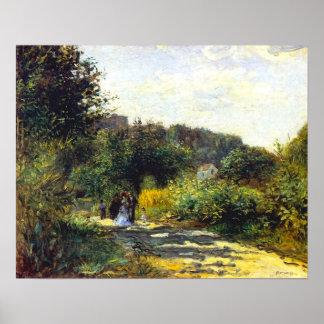 ピエール=オーギュスト・ルノワール著Louveciennesの道、 ポスター