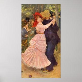 ピエール=オーギュスト・ルノワール- Danseのà Bougival (1883年) ポスター