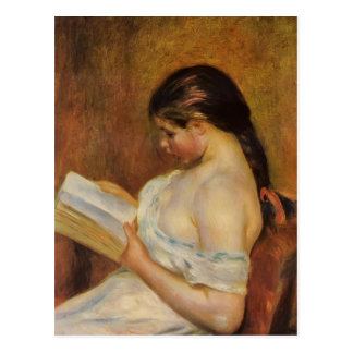 ピエールAugusteルノアールの若い女の子の読書 ポストカード
