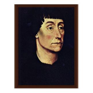 ピエールDe Beffremont By Weyden Rogierのポートレート ポストカード