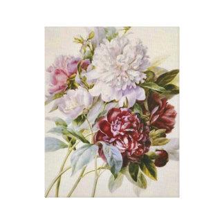 ピエールRedoute著シャクヤクの花の花束 キャンバスプリント
