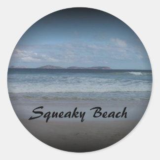 ピカピカのビーチ1 ラウンドシール
